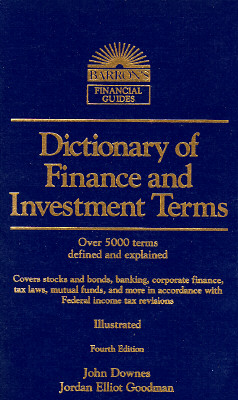 Image for Dictionary of Finance and Investment Terms (Barron's Finance and Investment Handbook)