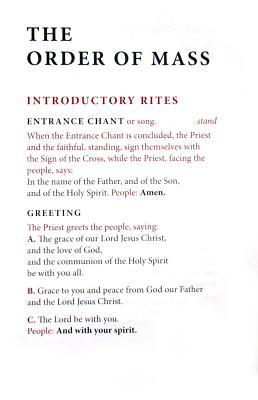 Order of Mass Hymnal Insert, Various