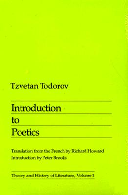 Introduction To Poetics (Theory and History of Literature)
