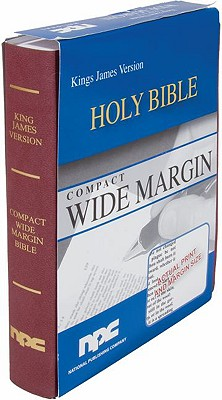 Burgundy Compact Wide Margin Bible King James Version
