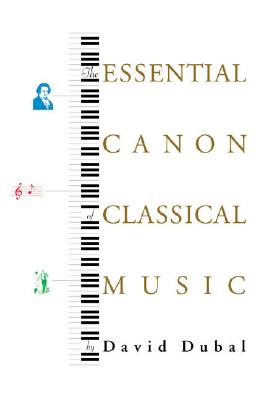 Image for The Essential Canon of Classical Music