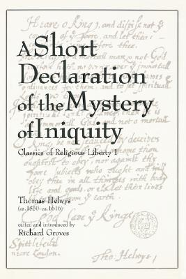 Image for A Short Declaration of the Mystery of Iniquity