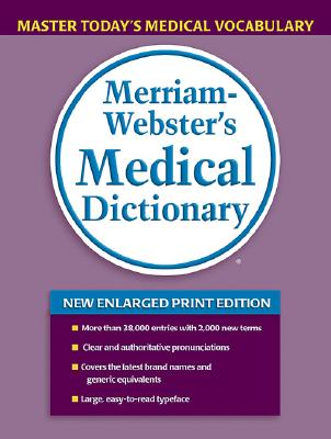 Image for Merriam-Webster's Medical Dictionary, new enlarged print edition