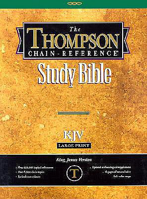 519 Burgundy KJV LP Thompson Chain-Reference Bible Large Print Bonded