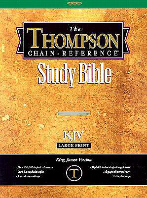 514 Black KJV - Thompson Chain Reference Bible: Genuine Leather, Gold-edged