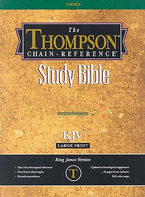 Image for KJV - Black Genuine Leather - Large Print - Indexed - Thompson Chain Reference Bible (025140)