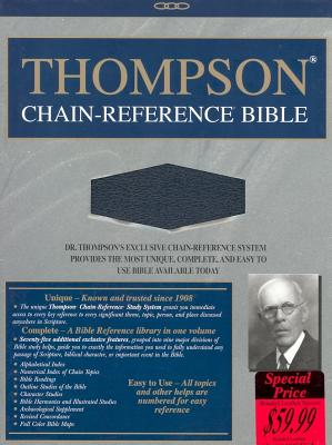 Image for 509 Thompson Chain Reference Bible - King James Version ( Regular Size, Dark Blue Bonded Leather, Smyth sewn pages, Silver gilding and stamping )
