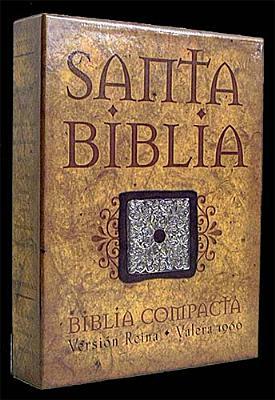 Biblia Compacta Piel Elaborada Negra, RVR 1960- Reina Valera 1960