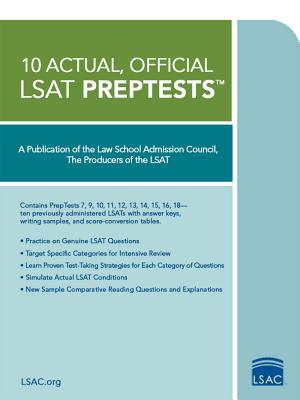 Image for 10 ACTUAL OFFICIAL LSAT PREPTESTS