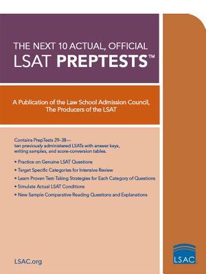 Image for The Next 10 Actual, Official LSAT PrepTests (Lsat Series)