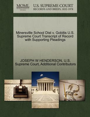 Image for Minersville School Dist v. Gobitis U.S. Supreme Court Transcript of Record with Supporting Pleadings