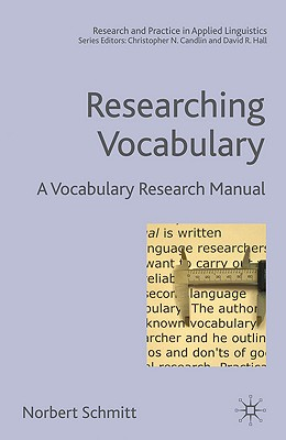 Image for Researching Vocabulary: A Vocabulary Research Manual (Research and Practice in Applied Linguistics)