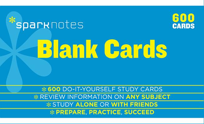 Blank Study Cards SparkNotes Study Cards, SparkNotes
