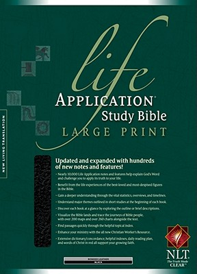 """Image for """"Life Application Study Bible NLT, Large Print Bonded Leather"""""""