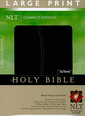 Holy Bible: King James Version, Burgundy, Simulated Leather, Compact, Cross Design, Tyndale House Publishers