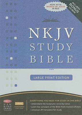 Image for NKJV Study Bible, Large Print, Bonded Leather, Black: Large Print Edition