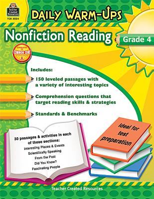 Teacher Created Resources Daily Warm-ups: Nonfiction Reading, Grade 4, 176 Pages (5034), Housel, Debra