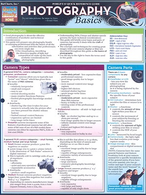 Image for Photography Basics Laminated Reference Guide (Quick Study: Home)