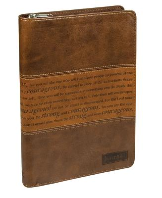 """Image for """"Strong and Courageous"""" Zippered Flexcover Journal"""