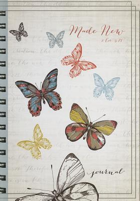 """Image for """"Made New"""" Butterfly Hardcover Wirebound Journal"""
