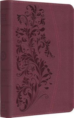 ESV Large Print Compact Bible (TruTone, Ruby, Bloom Design) (Esv Bibles)