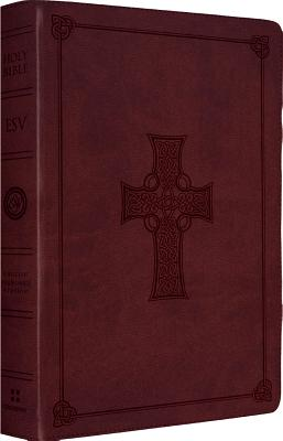 Image for ESV Large Print Thinline Reference Bible (TruTone, Burgundy, Celtic Cross Design)