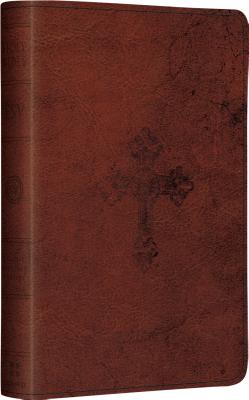 Image for ESV Compact Bible (TruTone, Walnut, Weathered Cross Design)
