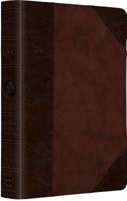 ESV Large Print Compact Bible (TruTone, Brown/Walnut, Portfolio Design), ESV Bibles by Crossway