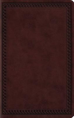Image for ESV Large Print Value Thinline Bible (Mahogany, Border Design)