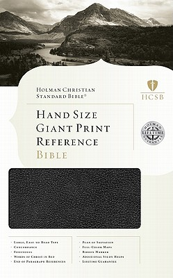 HCSB Hand Size Giant Print Reference Bible, Black Simulated Leather, Holman Bible Staff (Editor)
