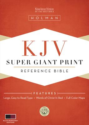 Image for KJV Super Giant Print Reference Bible - Black/Burgundy Simulated Leather
