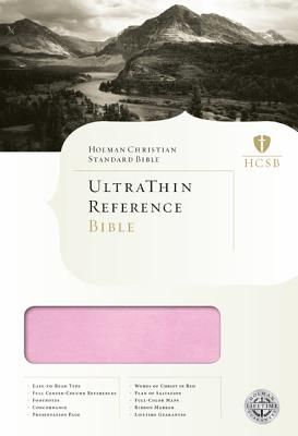 Image for HCSB UltraThin Bible - Pink/Brown Simulated Leather