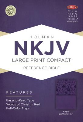 Image for NKJV Large Print Compact Reference Bible, Purple LeatherTouch