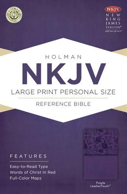 Image for NKJV Large Print Personal Size Reference Bible Purple