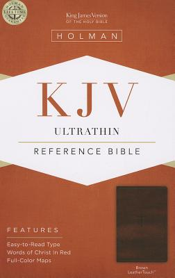 Image for KJV Ultrathin Reference Bible, Brown LeatherTouch