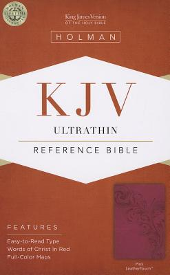 Image for KJV Ultrathin Reference Bible, Pink LeatherTouch