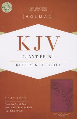 Image for KJV Giant Print Reference Bible Pink LeatherTouch Indexed
