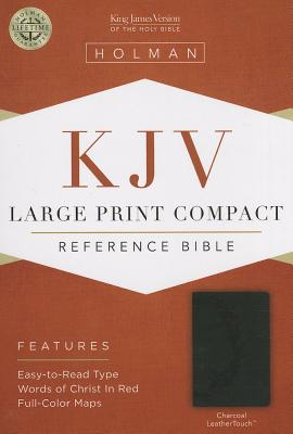 Image for KJV Large Print Compact Reference Bible, Charcoal LeatherTouch