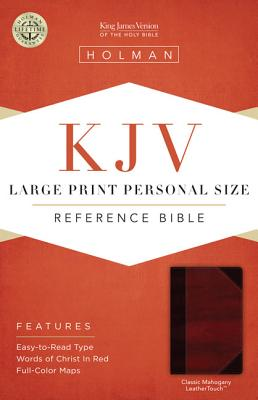 KJV Large Print Personal Size Reference Bible, Classic Mahogany LeatherTouch