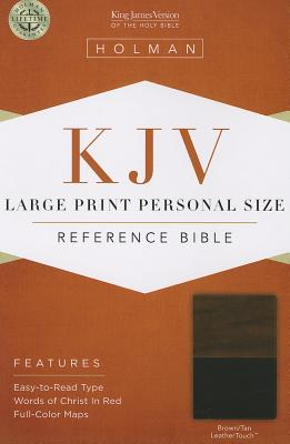 KJV Large Print Personal Size Reference Bible, Brown/Tan LeatherTouch
