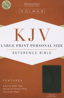 Image for KJV Large Print Personal Size Reference Bible, Charcoal LeatherTouch