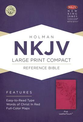 Image for NKJV Large Print Compact Reference Bible Pink