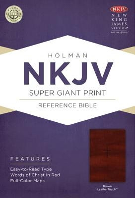 NKJV Super Giant Print Reference Bible, Brown LeatherTouch