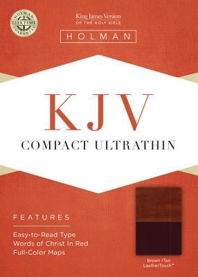 KJV Compact Ultrathin Bible, Brown/Tan LeatherTouch