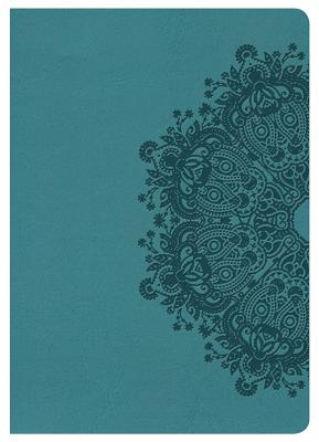 Image for NKJV Large Print Compact Reference Bible, Teal LeatherTouch