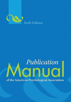 Image for Publication Manual of the American Psychological A