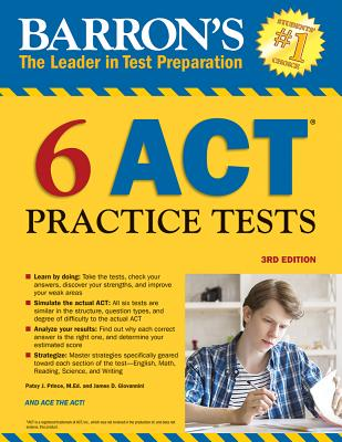 Image for Barron's 6 ACT Practice Tests