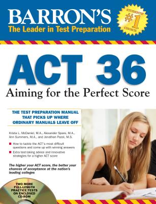 Image for Barron's ACT 36 with CD-ROM, 2nd Edition: Aiming for the Perfect Score