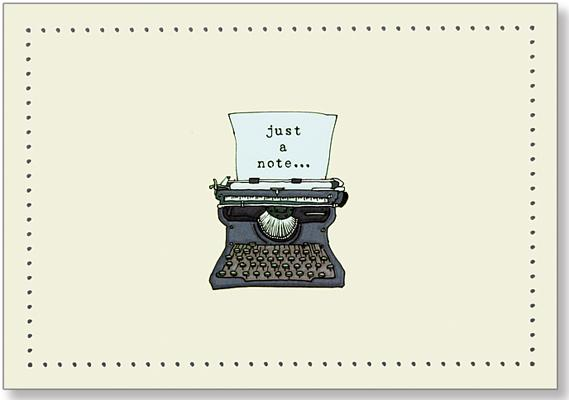 Typewriter Note Cards (Stationery, Boxed Cards), Peter Pauper Press