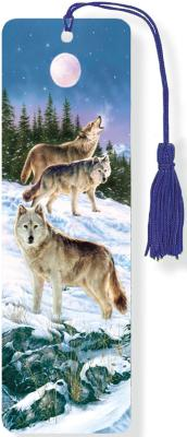 Image for Wolves 3-D Bookmark (Lenticular Bookmark)